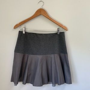 Hinge Leather flare skirt